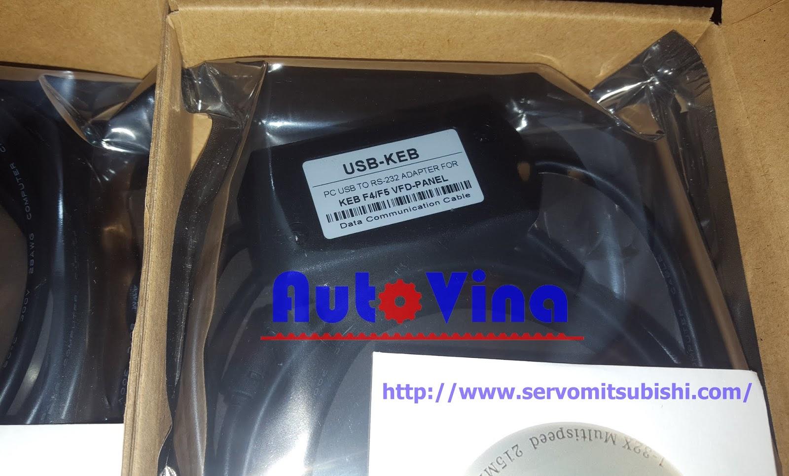 bán cable USB-KEB dùng cho Drives KEB COMBIVERT F4, KEB COMBIVERT F5