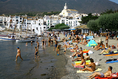 Tourism in Cadaques, Spain