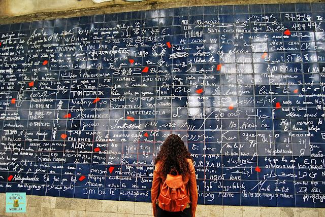 Muro Je T'aime, París