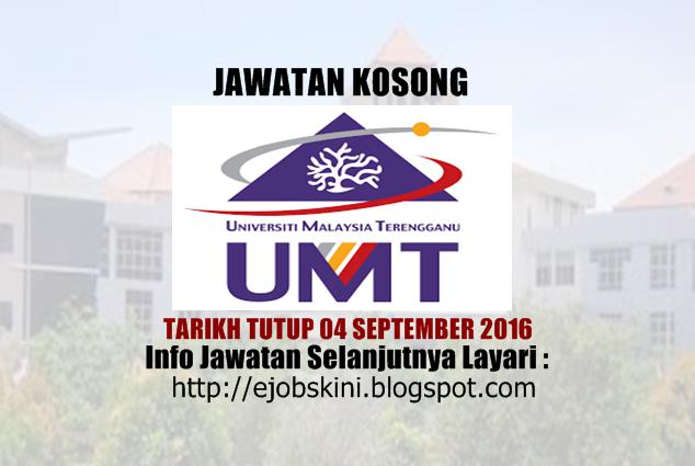 jawatan kosong di universiti malaysia terengganu (umt) september 2016