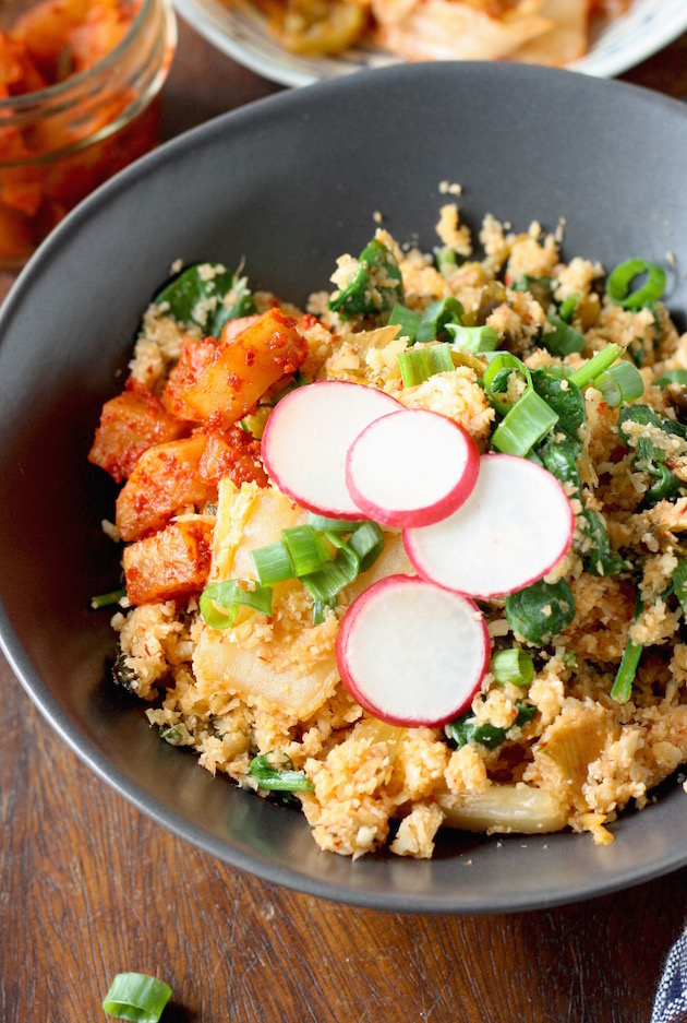 Cauliflower Fried Rice with Kimchi by SeasonWithSpice.com