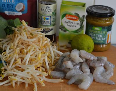 Super easy Thai Prawn Broth in less than 10 minutes - 330 kcals per portion