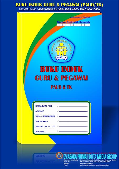 Buku Induk / Biodata Tenaga Pendidik & Kependidikan PAUD, buku induk guru paud, jual buku induk guru tk paud