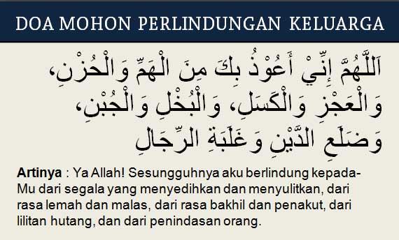 Doa Mohon Perlindungan Keluarga