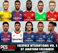 International Facepack Vol. 8 - PES 2017