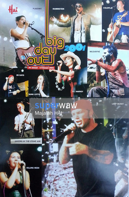 Poster Big Day Out 2001
