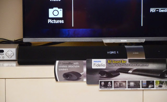 The Philips Fidelio B5 Wireless Soundbar