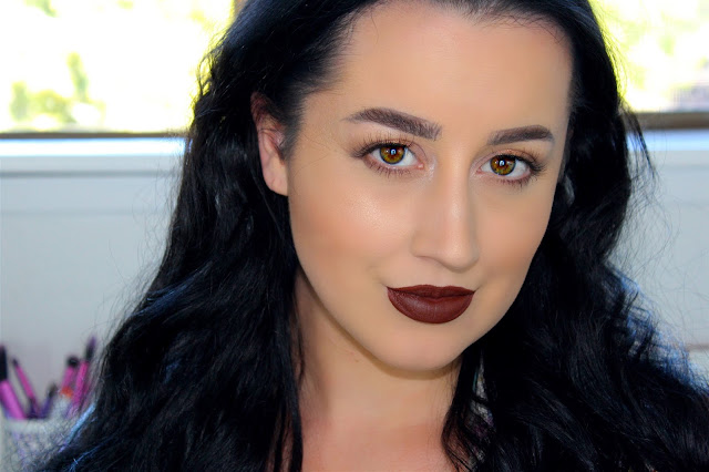 Glowing Bronze & Dark Lip Fall Makeup Tutorial