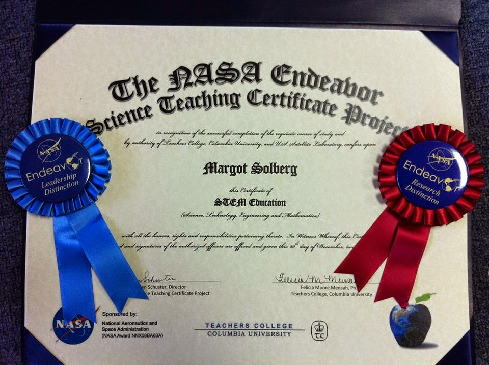 certificate with nasa - photo #44