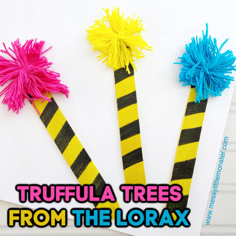 truffula trees dr seuss craft for toddlers