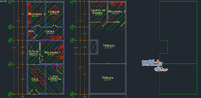 Houseroom bring in AutoCAD