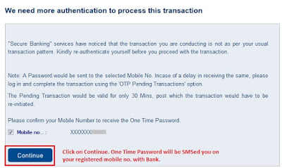 HDFC Bank Authentication using OTP