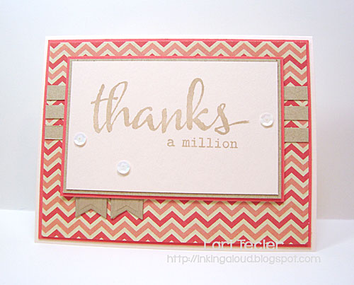 Thanks a Million card-designed by Lori Tecler/Inking Aloud-stamps from Winnie & Walter