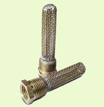 fuel tank outlet finger strainers are used in light aircraft