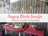 Angry Birds feestje - Ewans vierde verjaardag