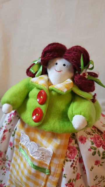 грелка на чайник, кукла, своими руками