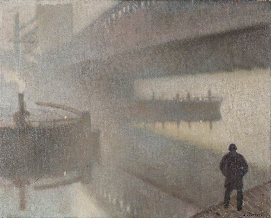 Adolphe  Valette    Under  Windsor   ridge  on  the  Irwell C  Manchester