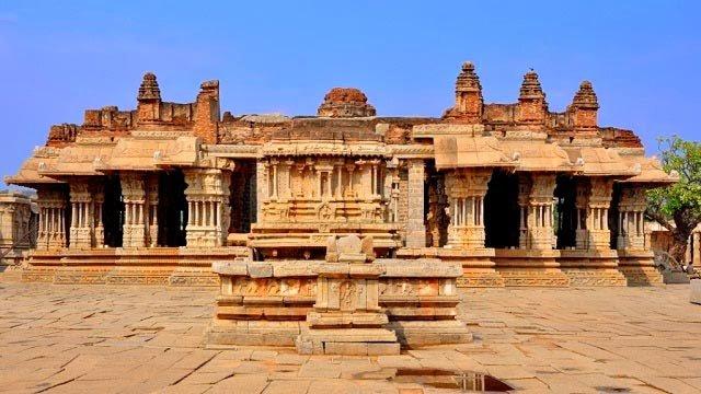 Stone Chariot At Vittala Temple Hampi Karnataka India