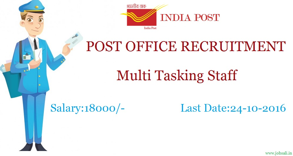 Post Office Recruitment 2016 Mts Online Application Form