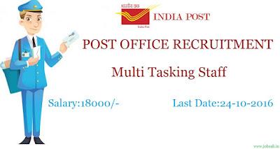 MTS Recruitment , Postal Jobs