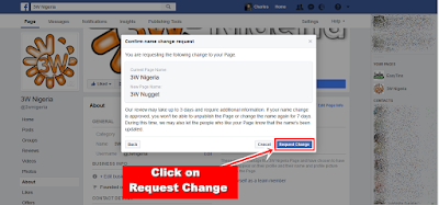 Facebook Page Name Change - Request Change