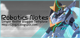 Robotic Notes Robot Biru Blogger Template