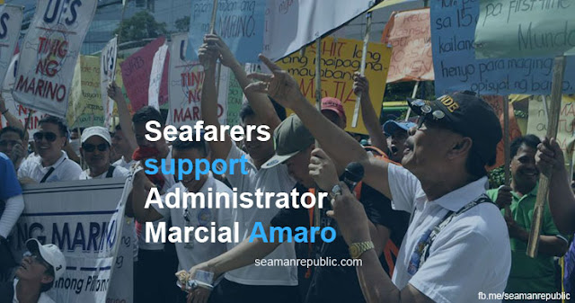 Seafarers approve and support MARINA Administrator Marcial Amaro