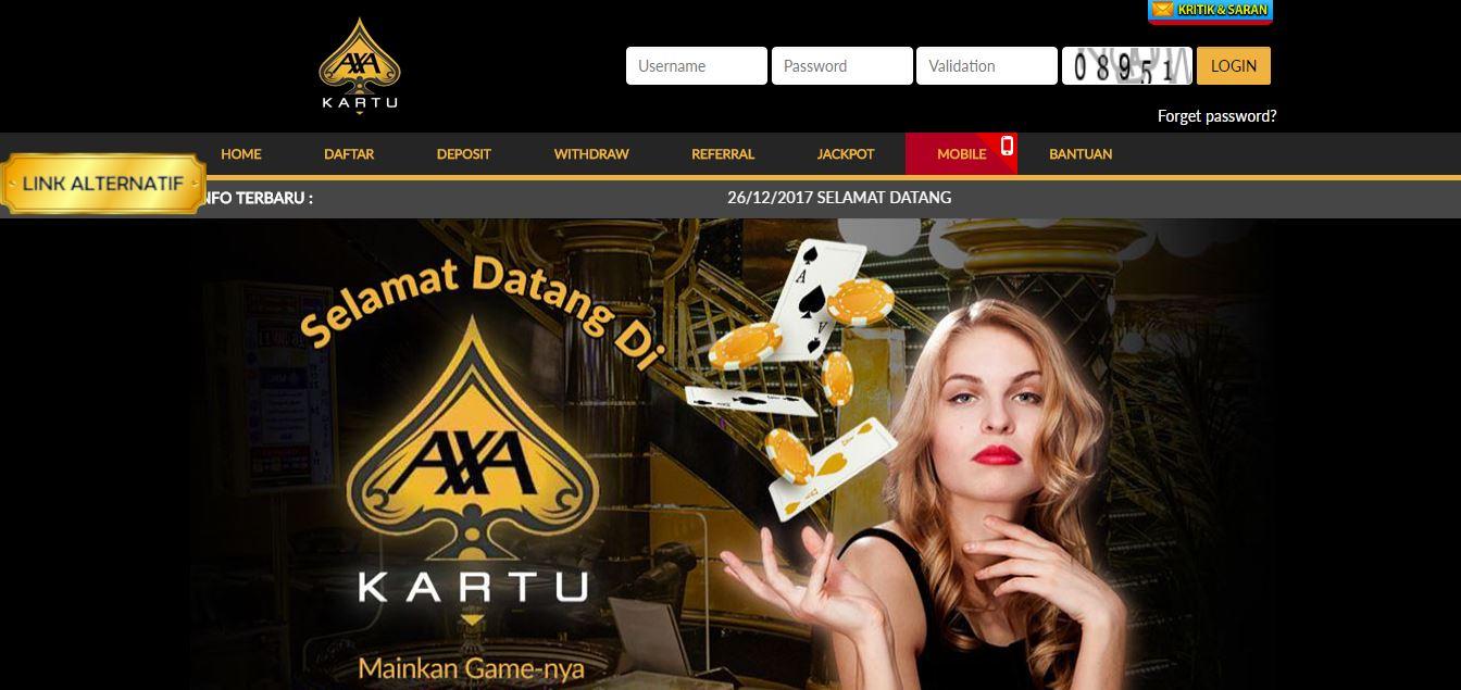AxaKartu Agen Poker Online Terpopuler Saat Ini