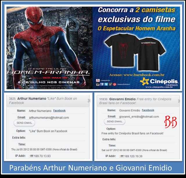 Resultado | Promo: Concorra a duas camisetas exclusivas do filme O Espetacular Homem-Aranha 6