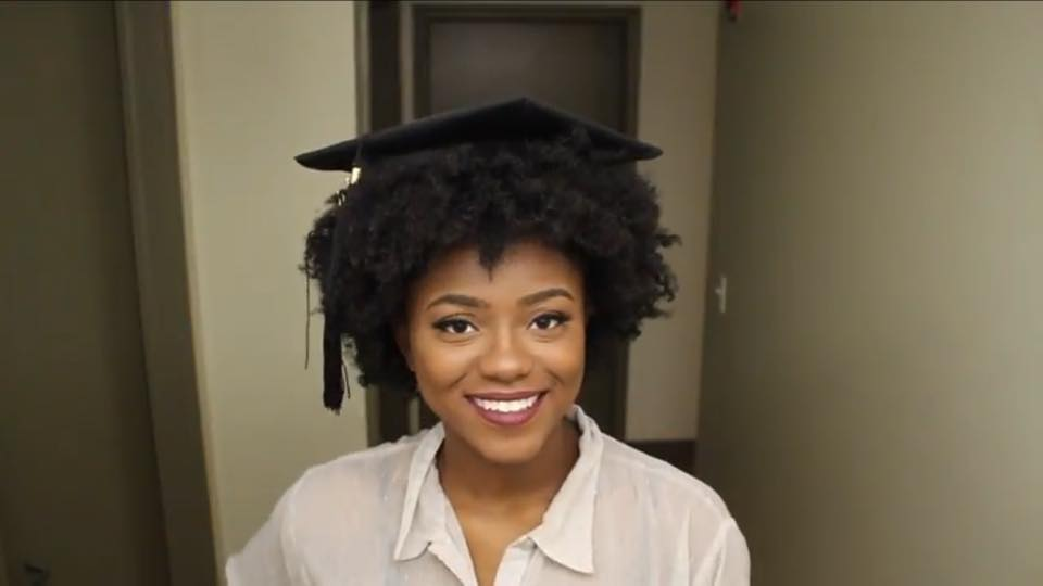 Easy Hack How To Fit Your Graduation Cap On Your Natural Hair