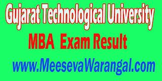 Gujarat Technological University MBA IV Sem Remedial 2016 Exam Result