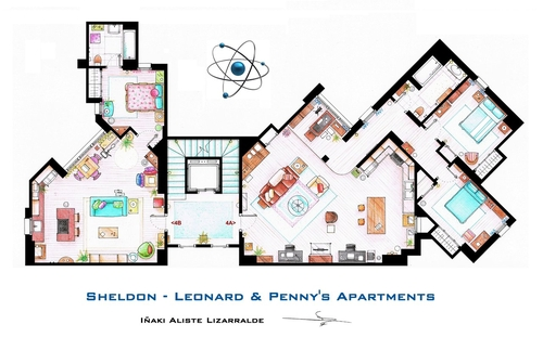01-The-Big-Bang-Theory-Sheldon-Leonard-And-Penny-Apartment-Floor-Plan-Inaki-Aliste-Lizarralde