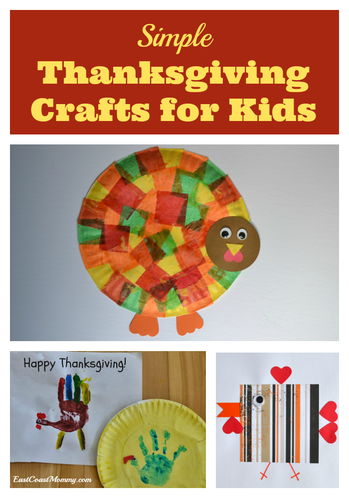 East coast mommy simple thanksgiving crafts for kids for Easy thanksgiving craft ideas