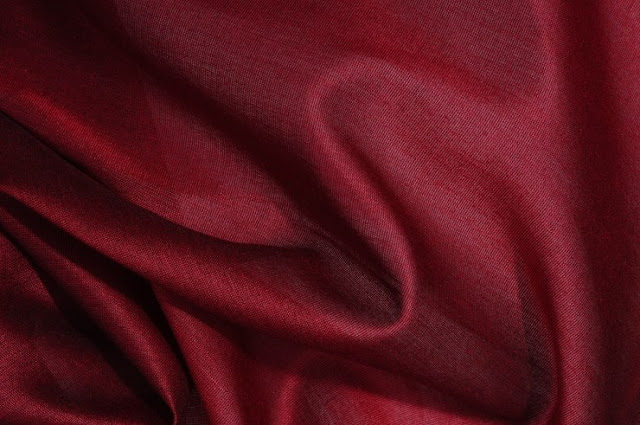 Scarlet Red Cotton Silk Fabric