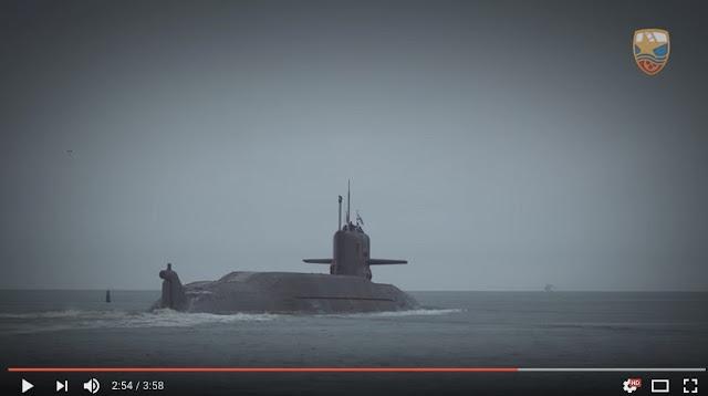 Astillero revela un video único de un submarino espía