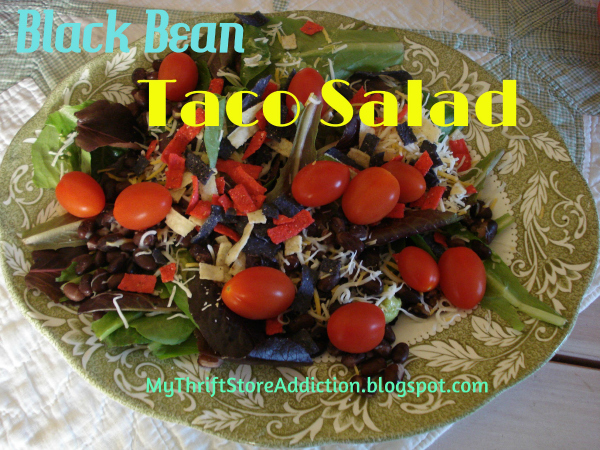 Black bean taco salad