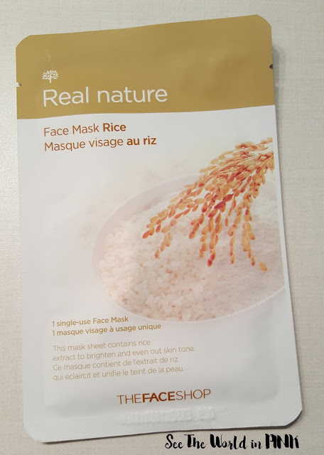 the face shop real nature rice mask