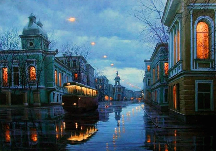 11-Alexey-Butyrsky-Architecture-in-Paintings-of-Cityscapes-at-Night-www-designstack-co