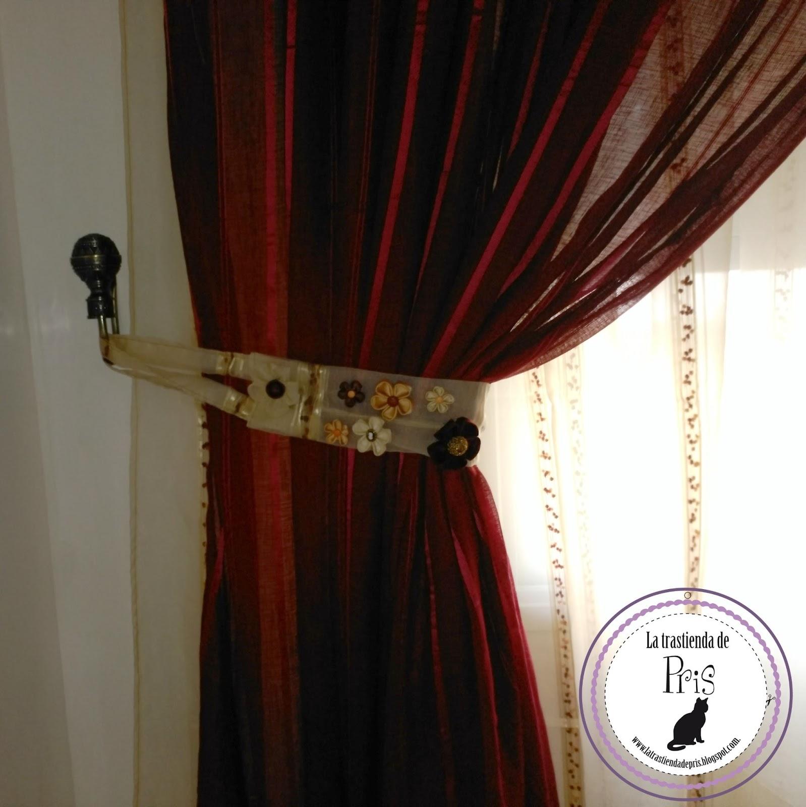 La trastienda de pris cortinas de sal n con cinta de fruncir - Abrazaderas para cortinas ...