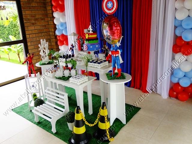 Decoraç u00e3o de festa infantil Os Vingadores provençal -> Decoração De Festa Os Vingadores