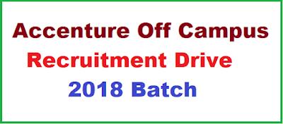 Accenture Off Campus Recruitment Drive | 2018 Batch