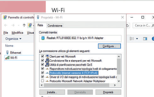 schermata configurazione manuale indirizzo IP wifi ethernet windows 10