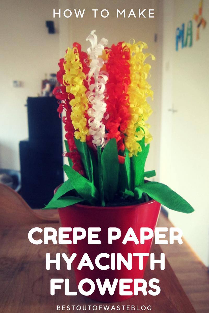 Easy To Make Crepe Paper Hyacinth Flowers Bestoutofwaste