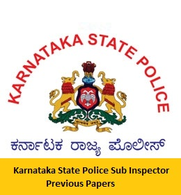 Download Karnataka State Police Sub Inspector Previous Papers PDF
