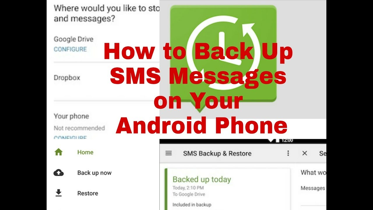 How to create a backup and restore the SMS of your Android phone.