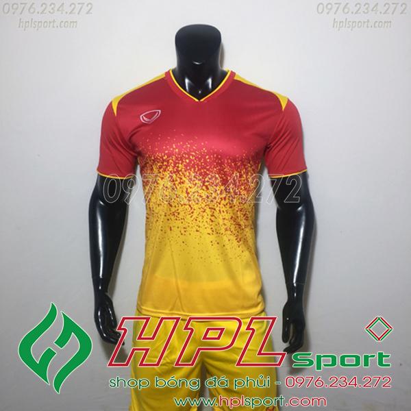 Áo bóng đá ko logo gransport đỏ vàng