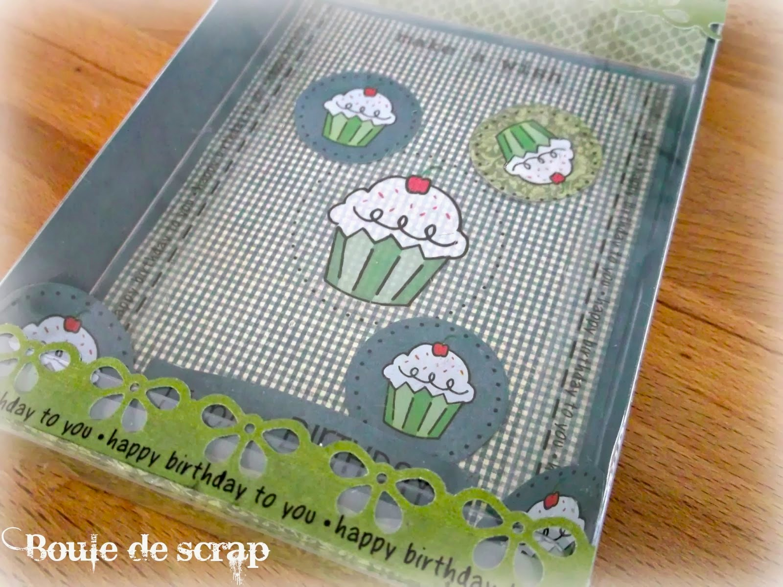 SRM Stickers Blog - Shaker Box Birthday by Angélique - #card #shaker #A2 #clear box #stickers