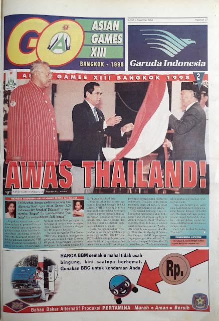 ASIAN GAMES XIII BANGKOK 1998 THAILAND