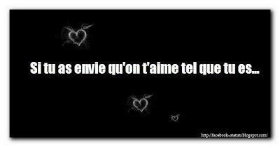 Statut facebook phrase d'amour