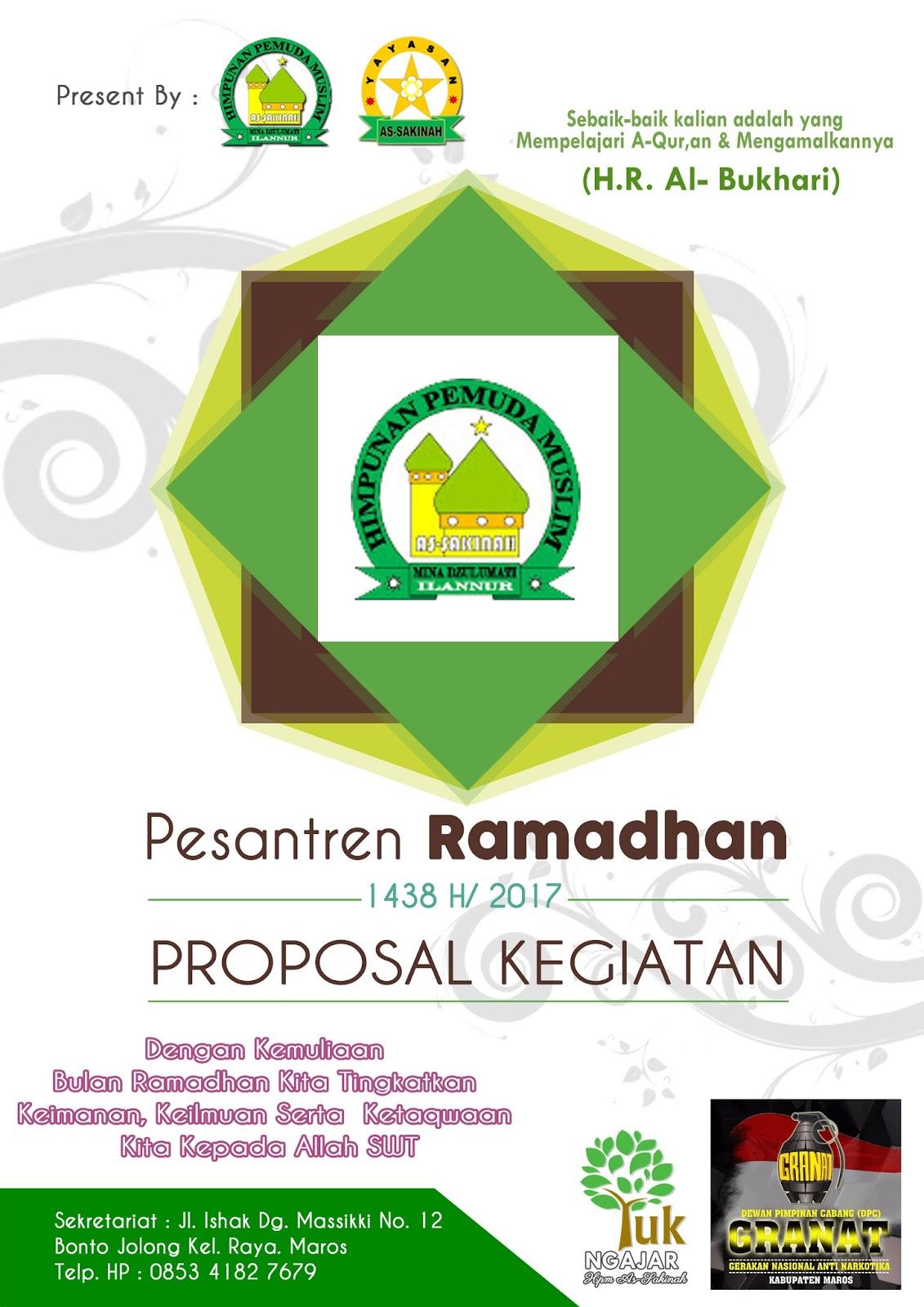 Hpm As Sakinah Proposal Kegiatan Bulan Ramadhan 1438 H
